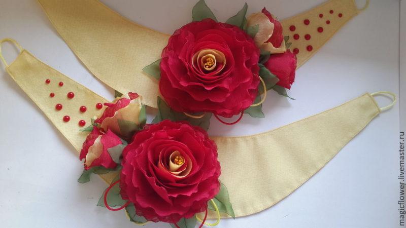 Как изготовить цветы из ткани своими руками для штор 23