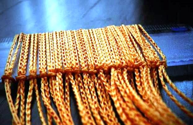 Как сделать шторы нитки своими руками 165