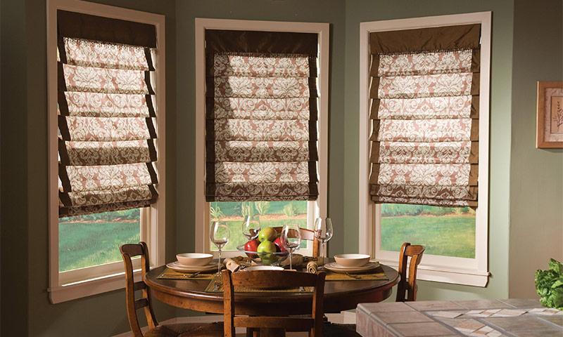 красивые римские шторы для кухни 10 фото