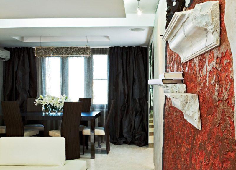 Черные шторы в интерьере, PostRemont