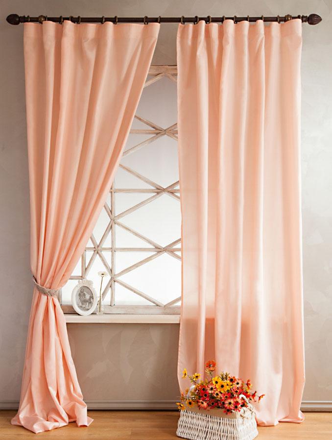 Занавески персикового цвета