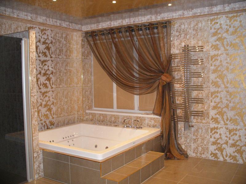 Фото шторы в ванной комнате купить смеситель брават в спб